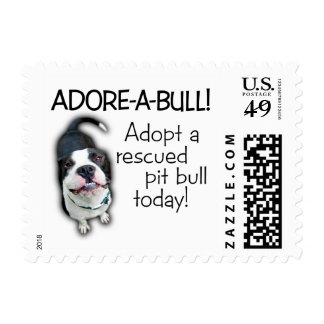 Adore-A-Bull Pit Bull! Stamp