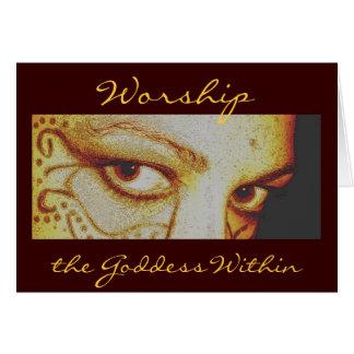 Adore a la diosa dentro, Notecard Tarjeta Pequeña