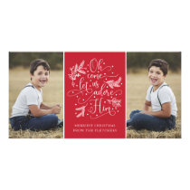 Adore Him | Christmas Photo Card | Red