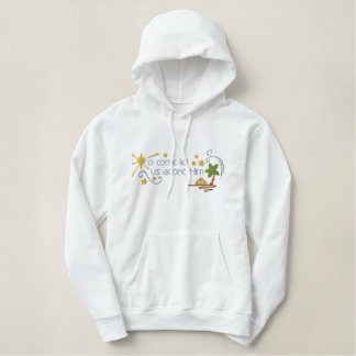 Adore Him Embroidered Hoodie