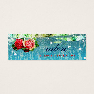 Adore In Roses Blue Hang Tag