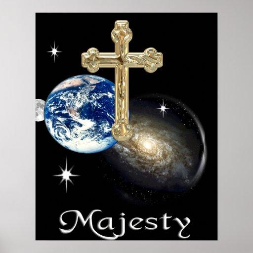 adore su poster del cristiano de la majestad