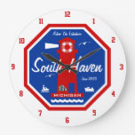 Adore The Lakeshore - South Haven, MI Wall Clock