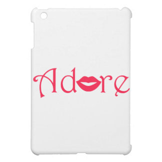 Adore with a Kiss iPad Mini Cases