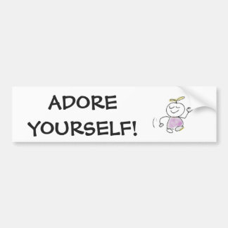 Adore Yourself Cute Bumper Sticker