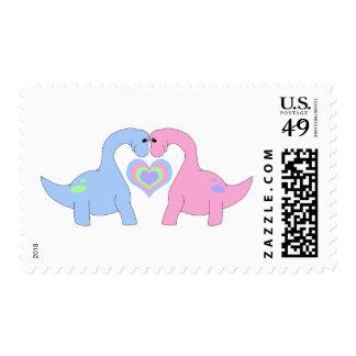 Adoring Apatosaurus Stamp