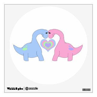 Adoring Apatosaurus Wall Sticker