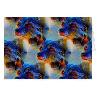 Adoring Dog Eyes Abstract Animal Card