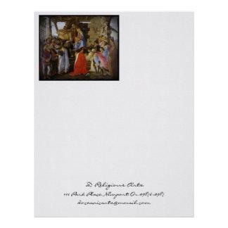 Adoring Magi Botticelli Letterhead