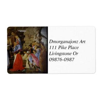 Adoring Magi Botticelli Shipping Label