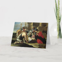 Adoring Shepherds 17th Century Holiday Card