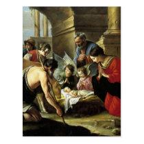 Adoring Shepherds 17th Century Postcard