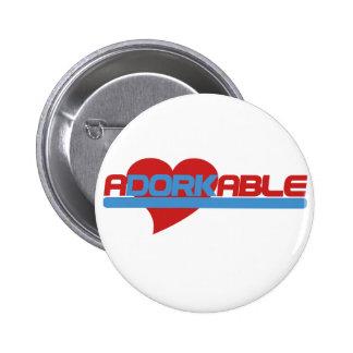 Adorkable Adorable Dork Pinback Button