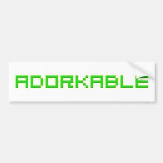 Adorkable Car Bumper Sticker