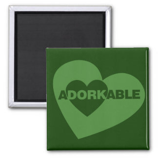Adorkable funny humor 2 inch square magnet