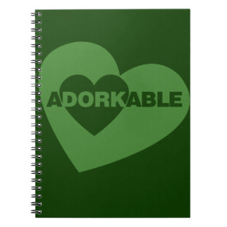 Adorkable funny humor note book