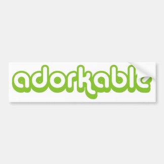 Adorkable (green) car bumper sticker
