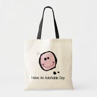 adorkable happy face bag