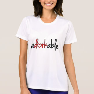 Adorkable with a heart T-Shirt