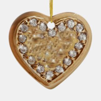 Adorn with love ceramic ornament