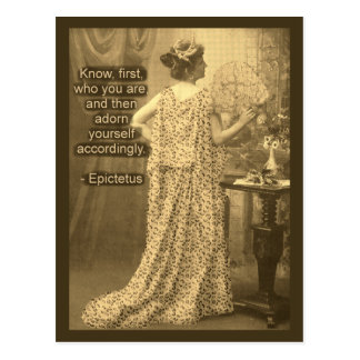 Adorn Yourself Accordingly  - Vintage Photography Post Cards