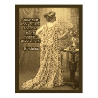 Adorn Yourself Accordingly  - Vintage Photography Postcard