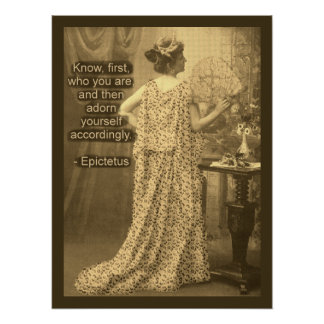 Adorn Yourself Accordingly  - Vintage Photography Poster