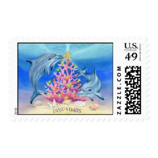 Adornamiento de delfínes timbre postal