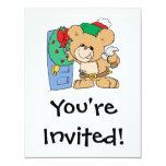 adornamiento para el diseño del oso de peluche del invitación 10,8 x 13,9 cm