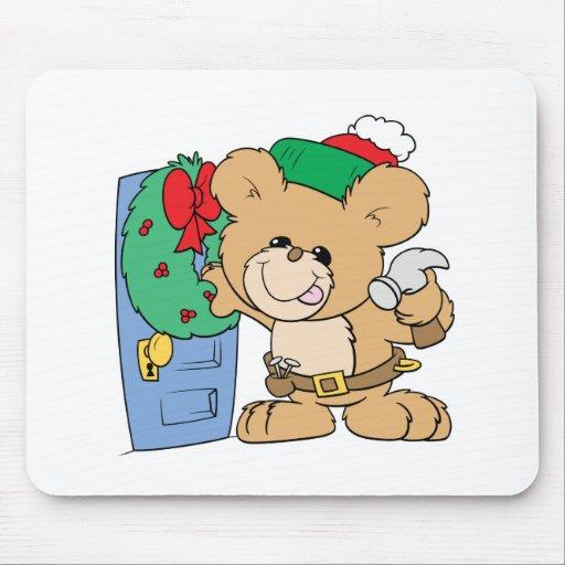 adornamiento para el diseño del oso de peluche del tapete de raton