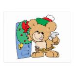 adornamiento para el diseño del oso de peluche del postal
