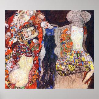 adorne a la novia con velo y enrruelle por Klimt Poster