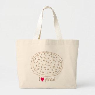 Adorne su propia pizza con los desmoches, bolsos bolsa tela grande