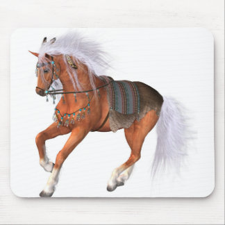 adorned show horse mouse pad