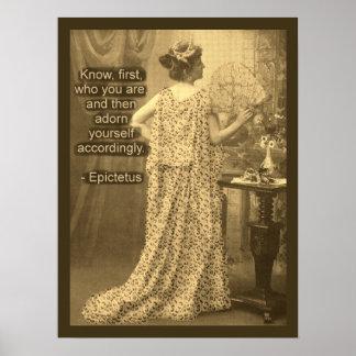 Adórnese por consiguiente - fotografía del vintage póster