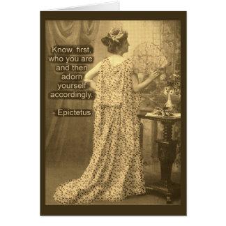 Adórnese por consiguiente - fotografía del vintage tarjeta de felicitación