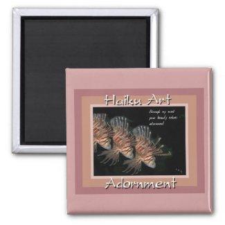 Adornment Haiku Art Magnet magnet