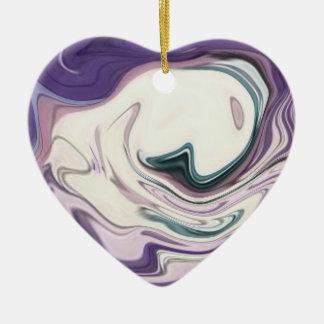 adornment heart 3 ceramic ornament