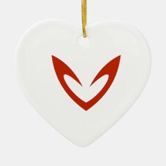 Adornment Heart Ceramic Ornament