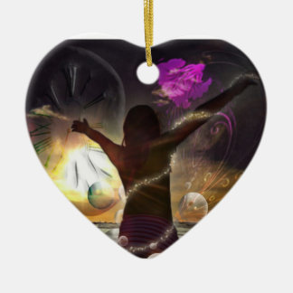Adornment Heart: The world in your hands/Promodeco Ceramic Ornament