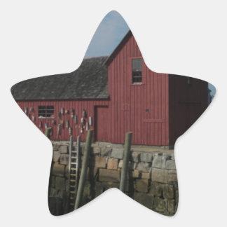 Adorno #1 Rockport, Massachusetts Pegatina En Forma De Estrella