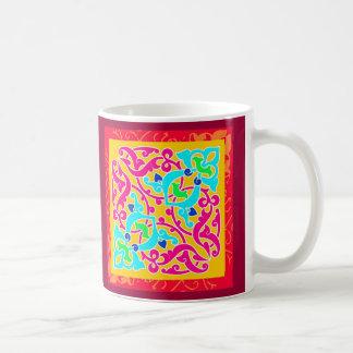 Adorno abstracto: Impresión de la materia textil Taza