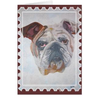 Adorno americano del sello del dogo tarjeta de felicitación