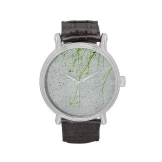 Adorno artístico de la naturaleza del invierno reloj de mano