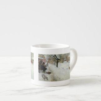 Adorno Asogatan Suecia del invierno Taza Espresso