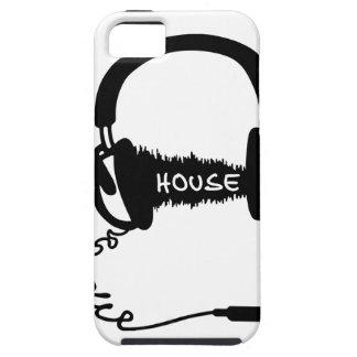 Adorno audio de la onda de los auriculares de los  iPhone 5 Case-Mate protector