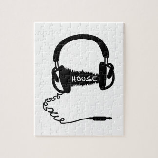 Adorno audio de la onda de los auriculares de los  puzzle