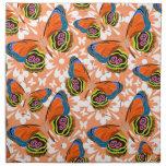 Adorno colorido de la mariposa servilletas de papel