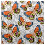 Adorno colorido de la mariposa servilletas