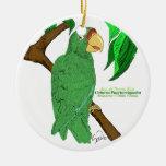 Adorno Cotorra de Puerto Rico Christmas Tree Ornaments